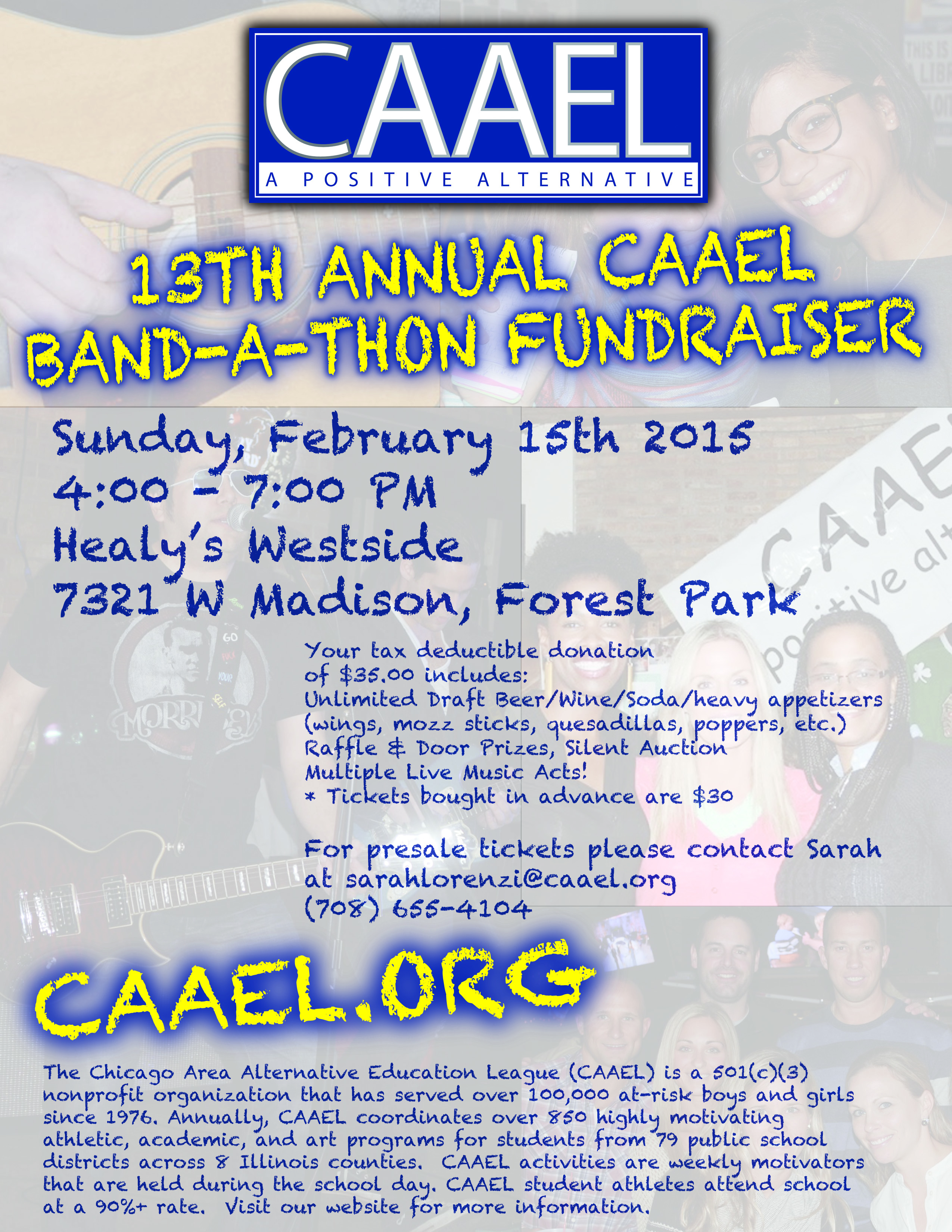 CAAEL '15 Bandathon Flyer