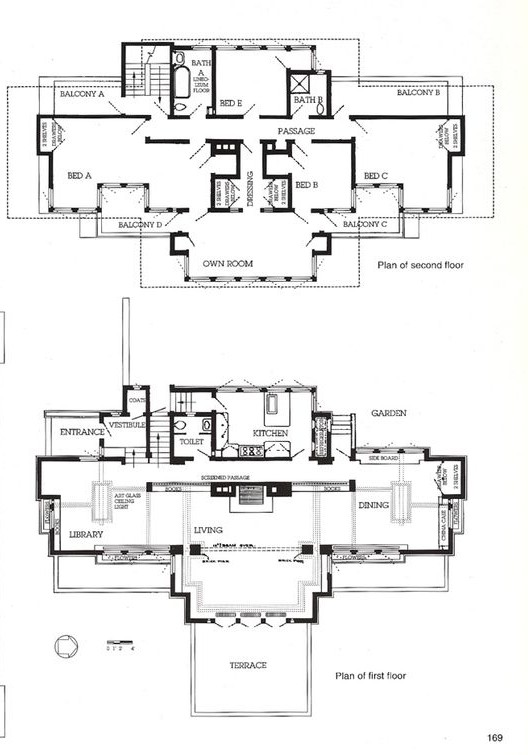 Frank lloyd wright 39 s balch house listed on market for 1 for Oscar plans